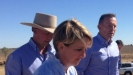 Mr Abbott travelled to Longreach, where he met with farmers, to make the funding announcement.  PHOTO: ABC News: Dominique Schwartz