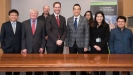 Photo; Visit.jpg University's Deputy Vice-Chancellor – International and Business Development, Mr Jeremy Baker, centre left, and Thai Ambassador to New Zealand, His Excellency Maris Sangiampongsa, centre right, meet at Lincoln University, along with delegates and University staff.
